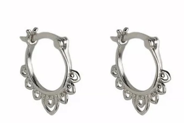 925 zilveren tribal hoops