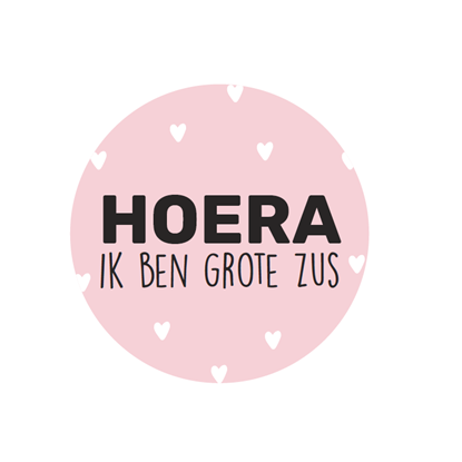 cadeaustickers - grote zus